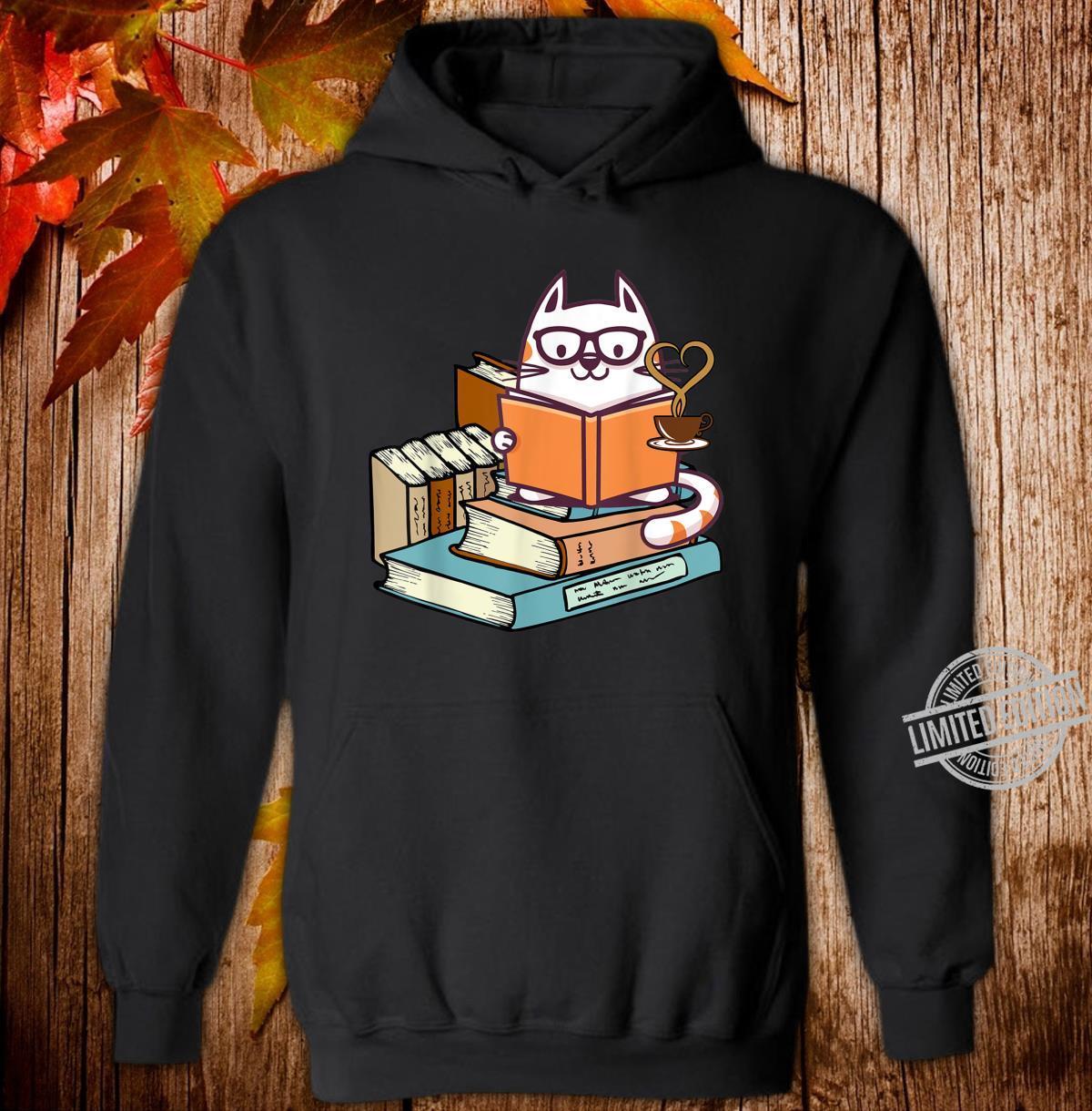 Cat Books and Tea Shirt hoodie