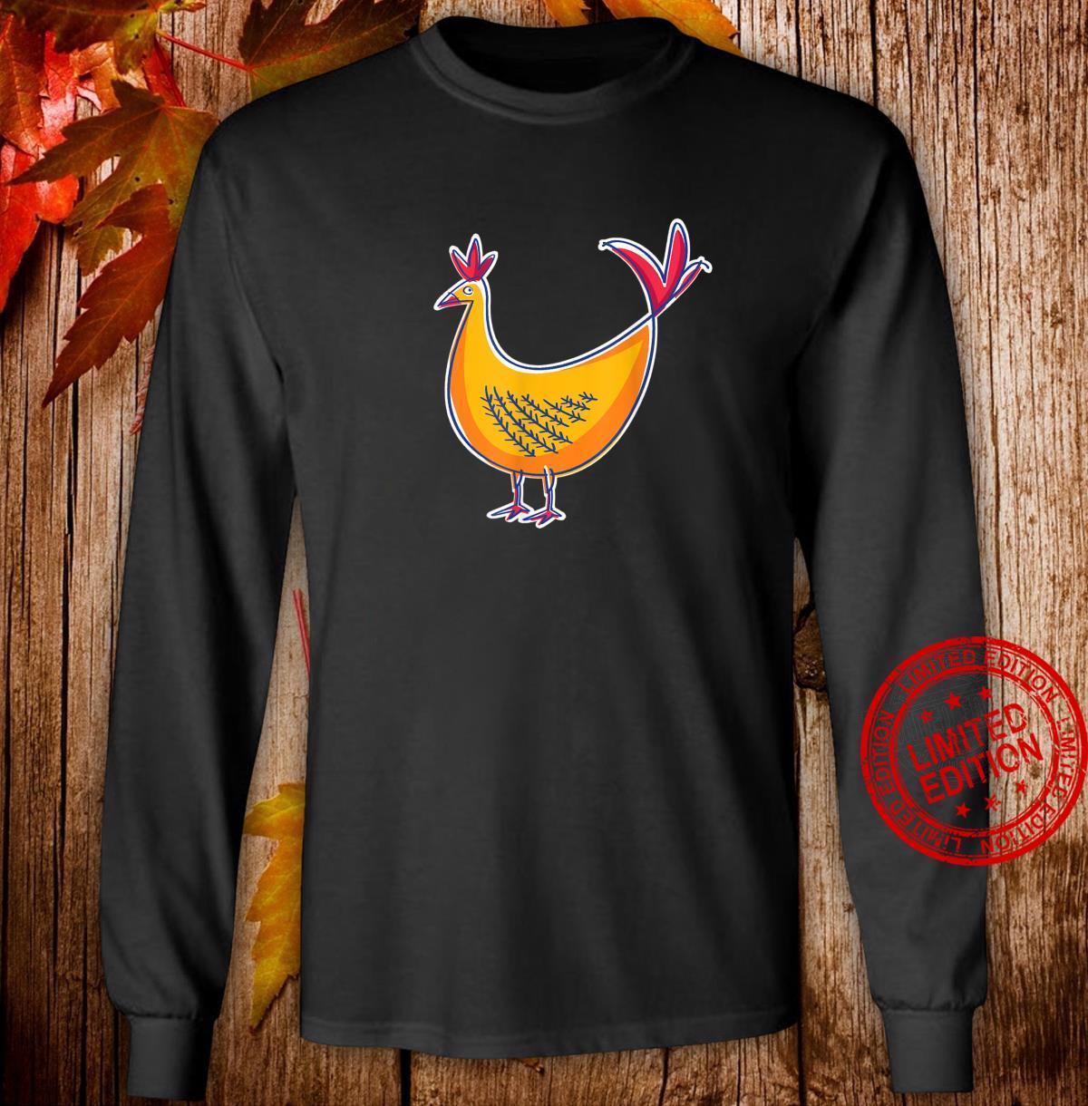 Chicken Farm Animal Chicken Shirt long sleeved