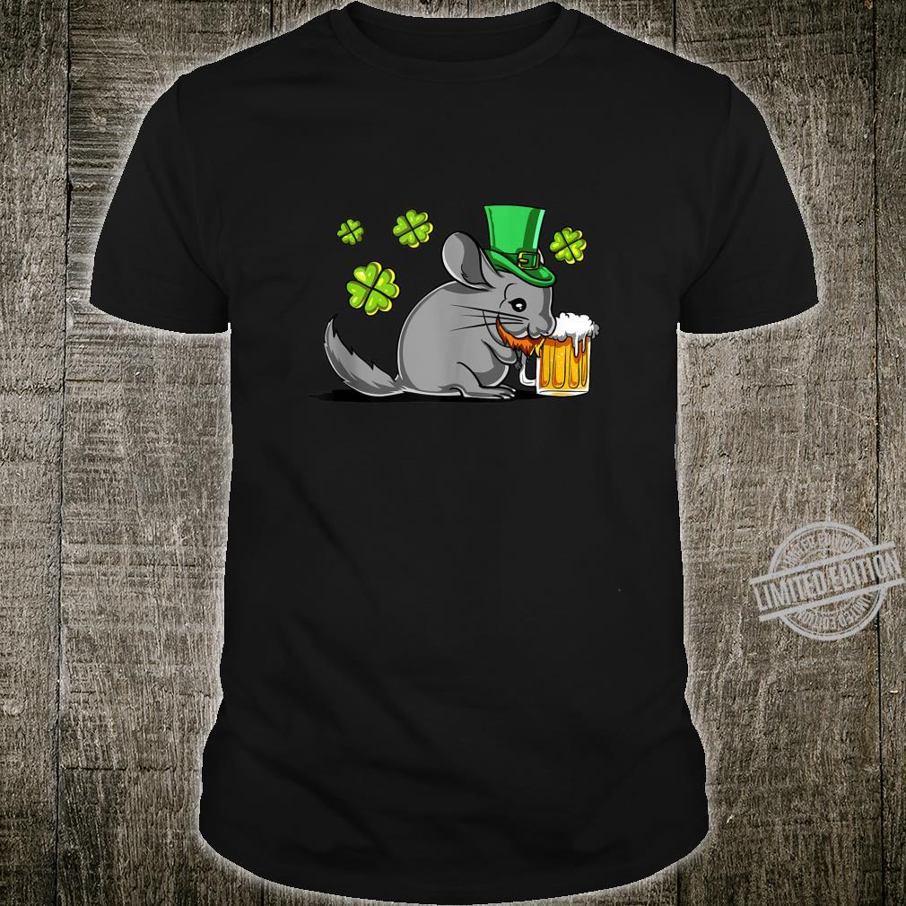 Chinchilla Leprechaun St Patricks Irish Shamrock Beer Party Shirt