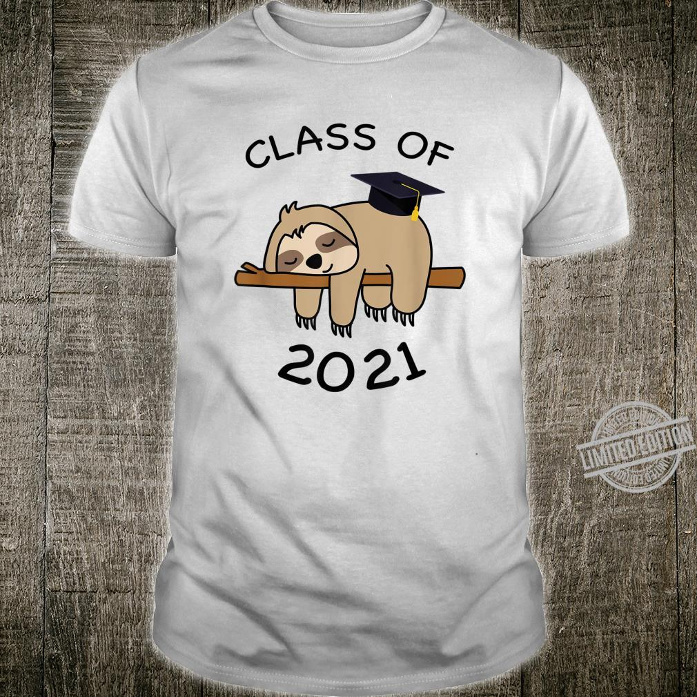 Class Of 2021 Sloth Grad First Day Of Junior Pop Shirt