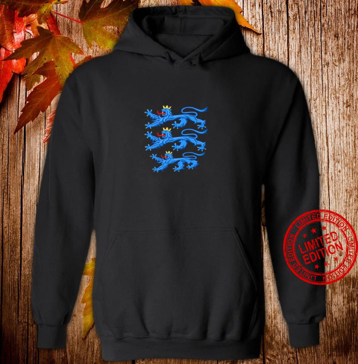 Coat Of Arms Of Denmark Shirt Rigsvaben Three Crowned Lions Shirt hoodie