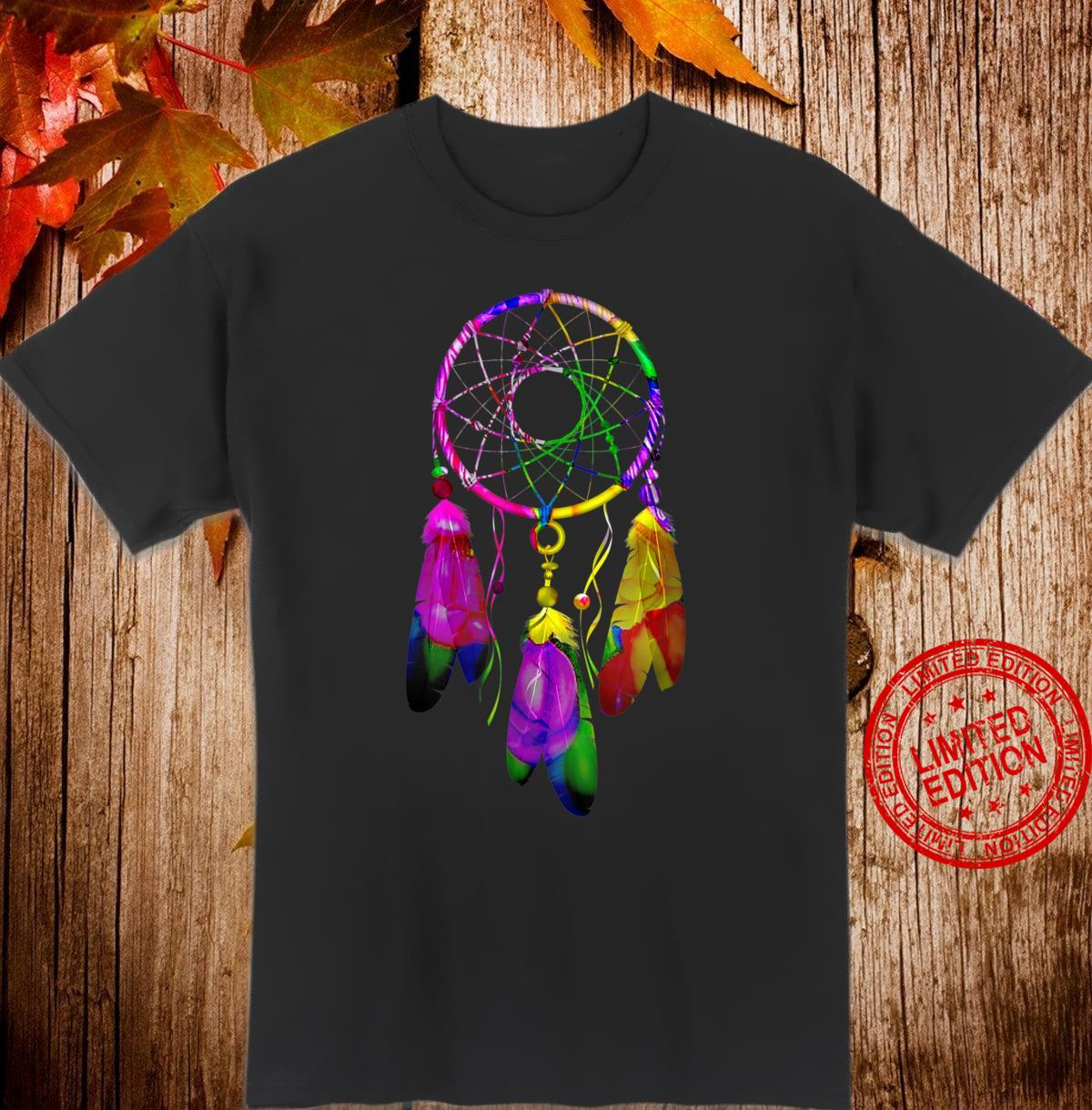 Colorful Dreamcatcher Feathers Native American Indian Tribal Shirt