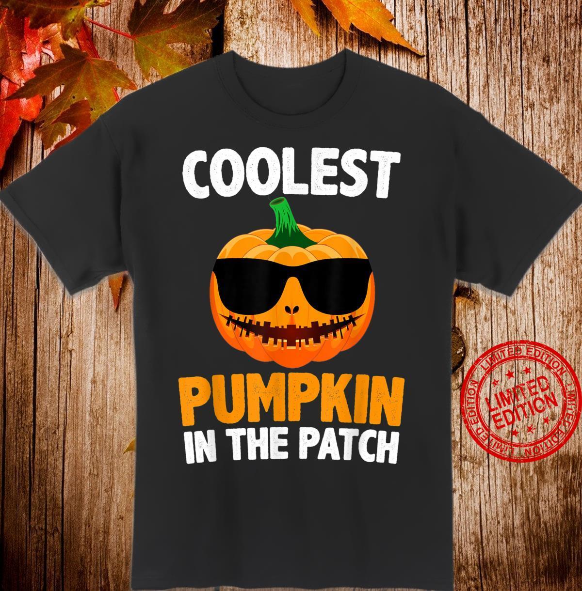Coolest Pumpkin In The Patch Pumpkin Girls & boys Halloween Shirt