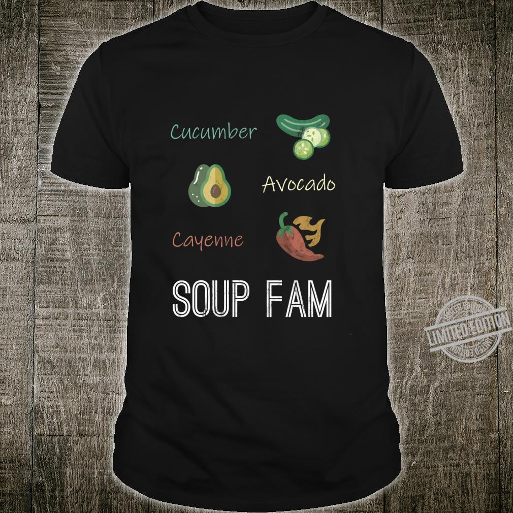 Cucumber Avocado Cayenne Chili Pepper Soup Plant Based Diet Shirt