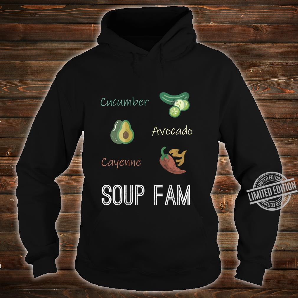 Cucumber Avocado Cayenne Chili Pepper Soup Plant Based Diet Shirt hoodie
