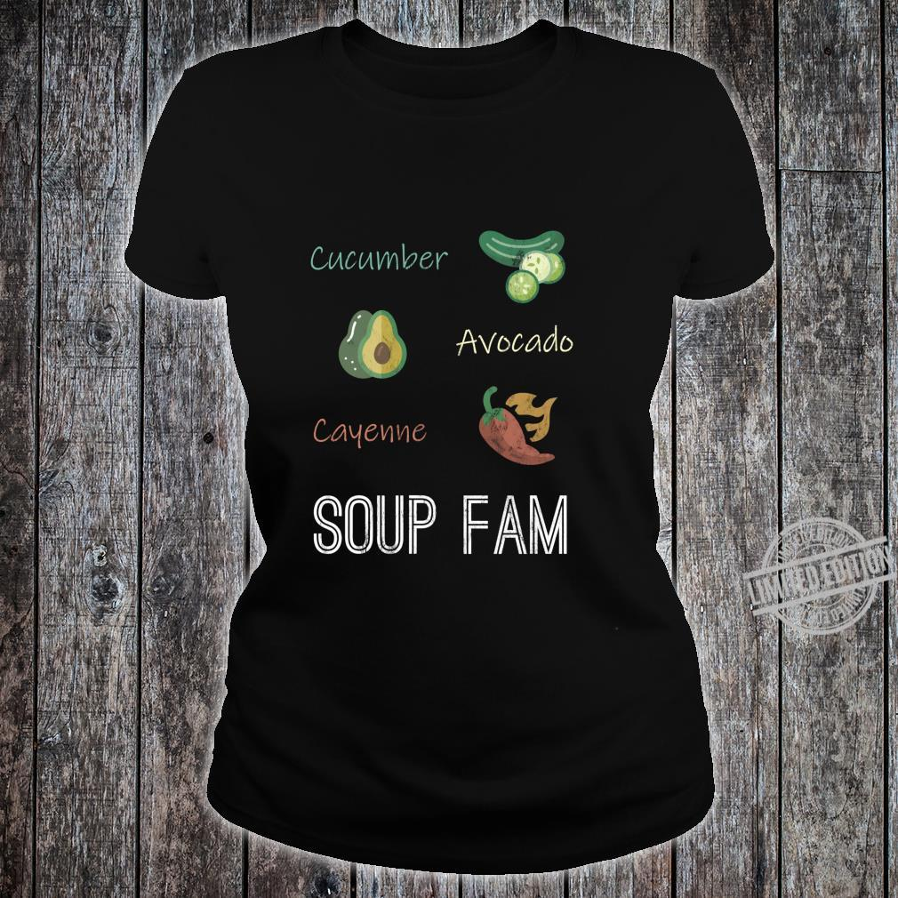 Cucumber Avocado Cayenne Chili Pepper Soup Plant Based Diet Shirt ladies tee