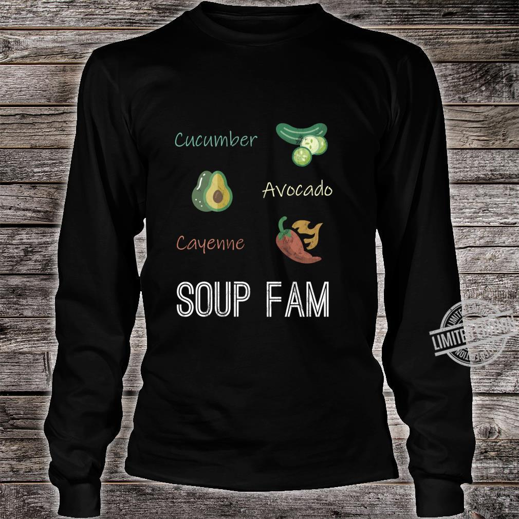 Cucumber Avocado Cayenne Chili Pepper Soup Plant Based Diet Shirt long sleeved