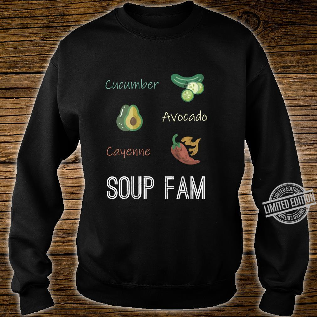 Cucumber Avocado Cayenne Chili Pepper Soup Plant Based Diet Shirt sweater