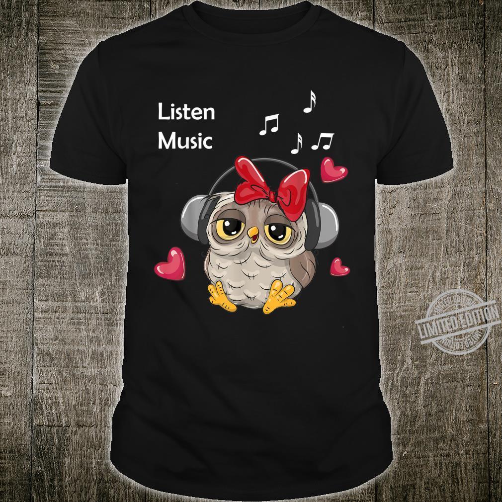 Cute Owl listen to music Owl Shirt