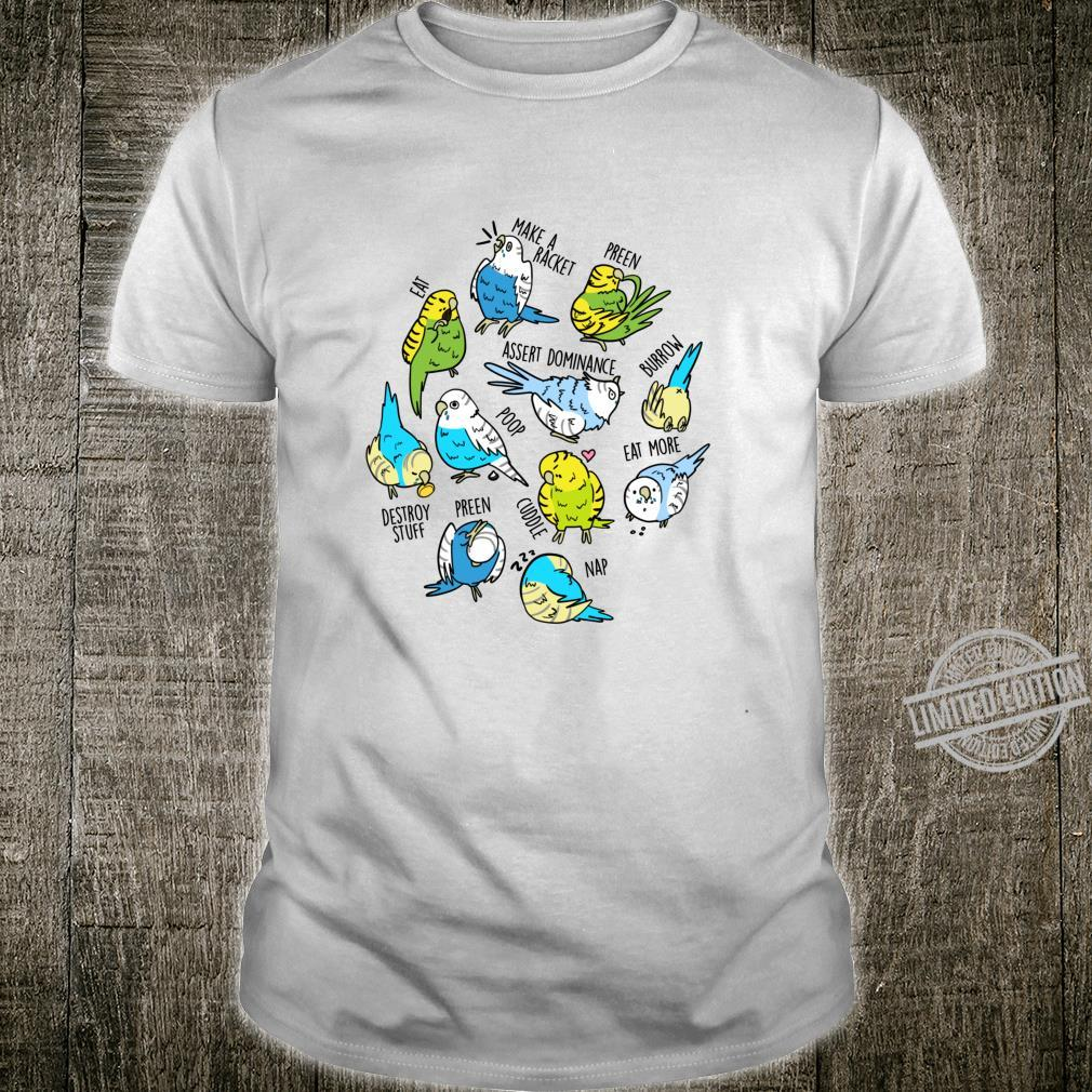 Daily To Do Budgerigar Cute Budgie Parakeet Bird Langarmshirt Shirt