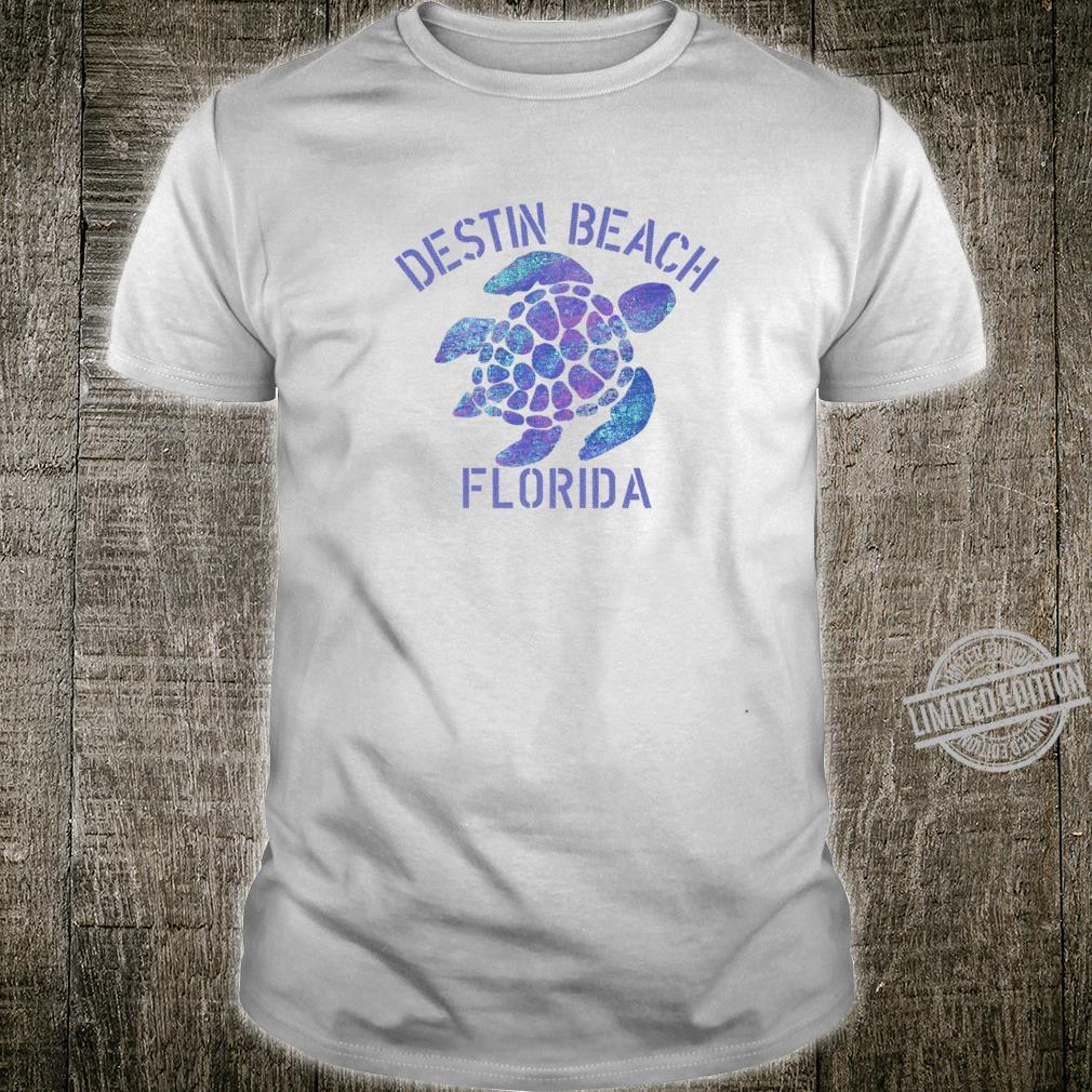 Destin Beach, FL Beach Design Tribal Turtle Shirt