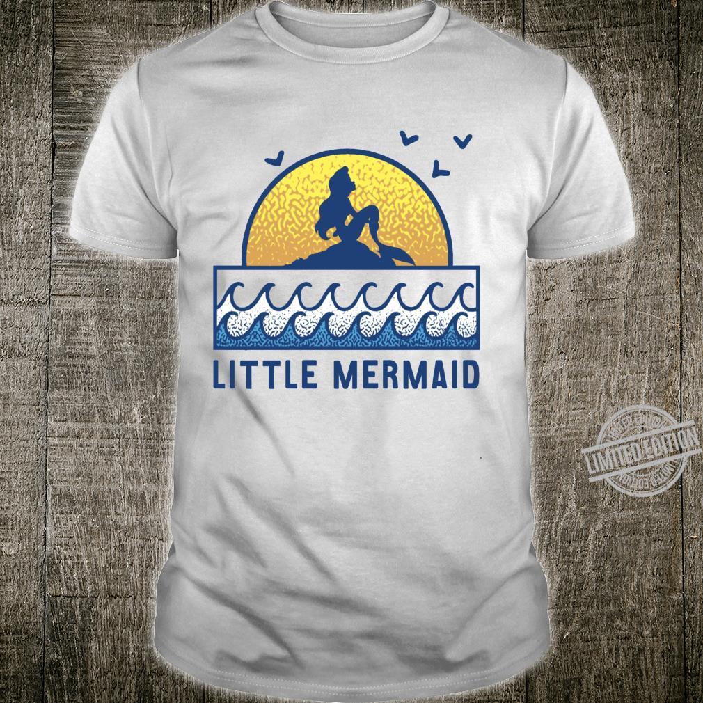 Disney The Little Mermaid Ariel Sunset Sketch Silhouette Shirt