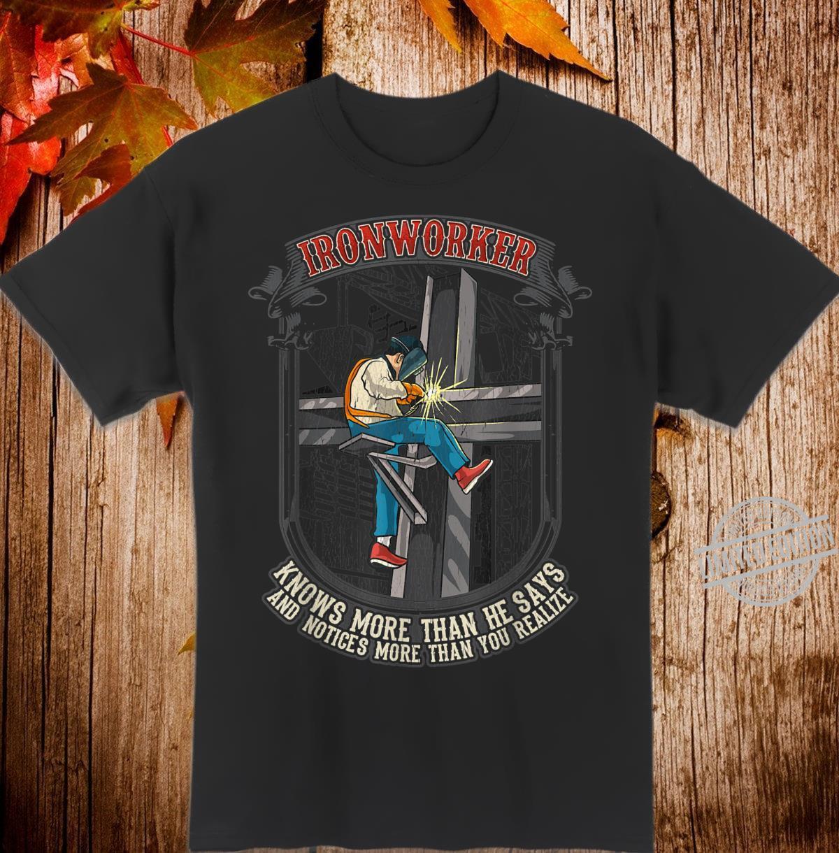 EisenarbeiterZitat Eisenbearbeitung verwandt Shirt