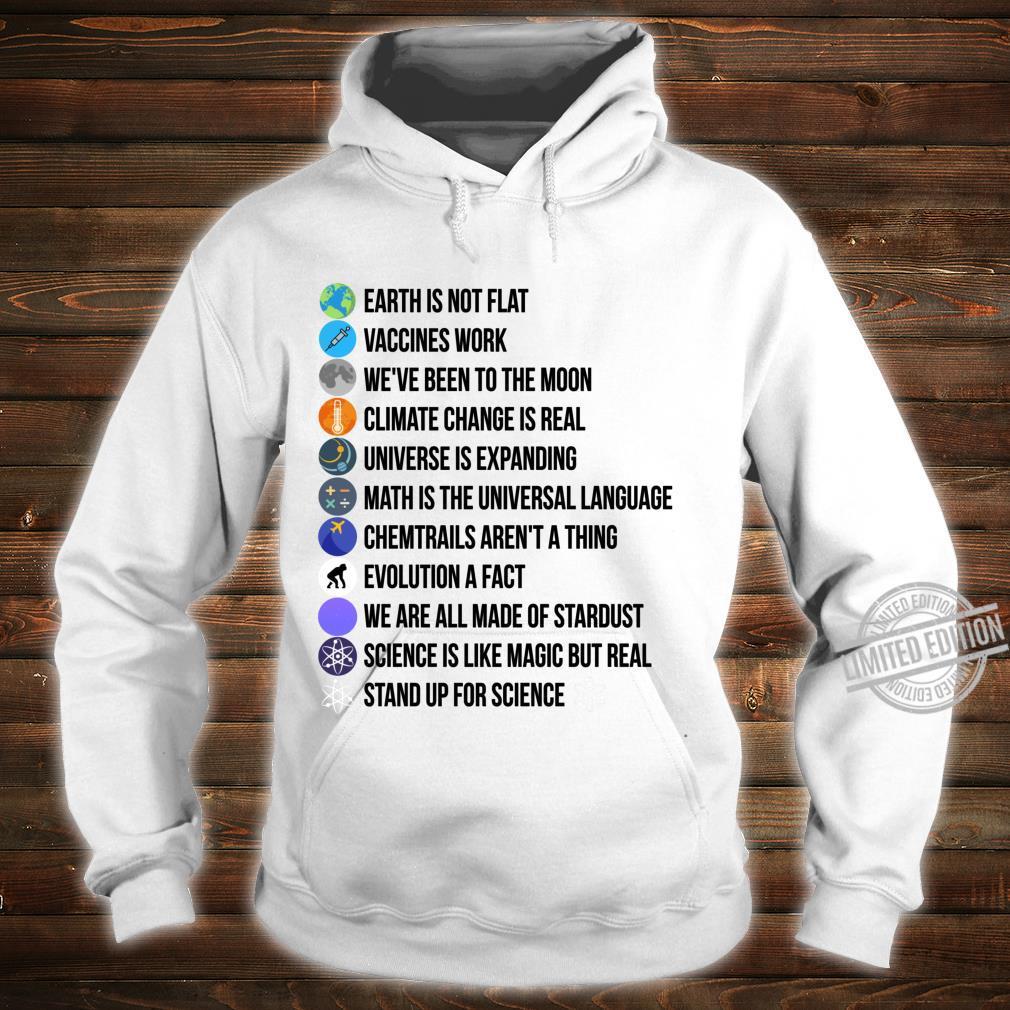 Erde ist nicht flach Wissenschaft ist wirklicher Langarmshirt Shirt hoodie