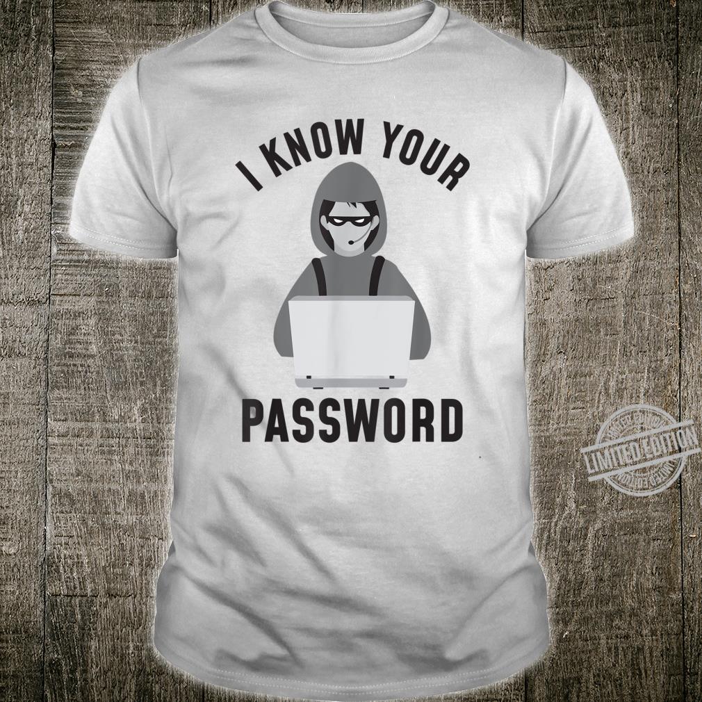Ethical Hacking Laptop Bandit Password Hacker Phishing Shirt