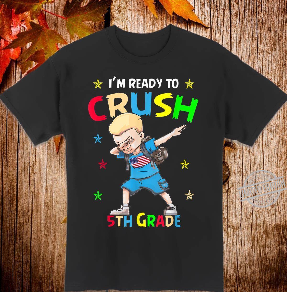First day of school shirt 5th grade dabbing boy Shirt