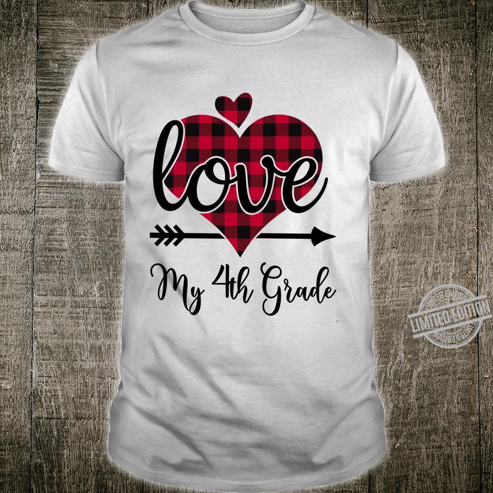 Fourth Grade Teacher Valentines Day Shirt