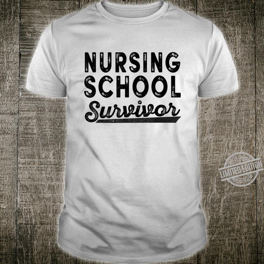 Funny Nursing School Survivor 2020 Shirt