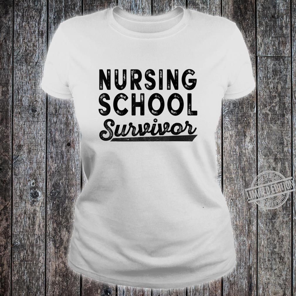 Funny Nursing School Survivor 2020 Shirt ladies tee
