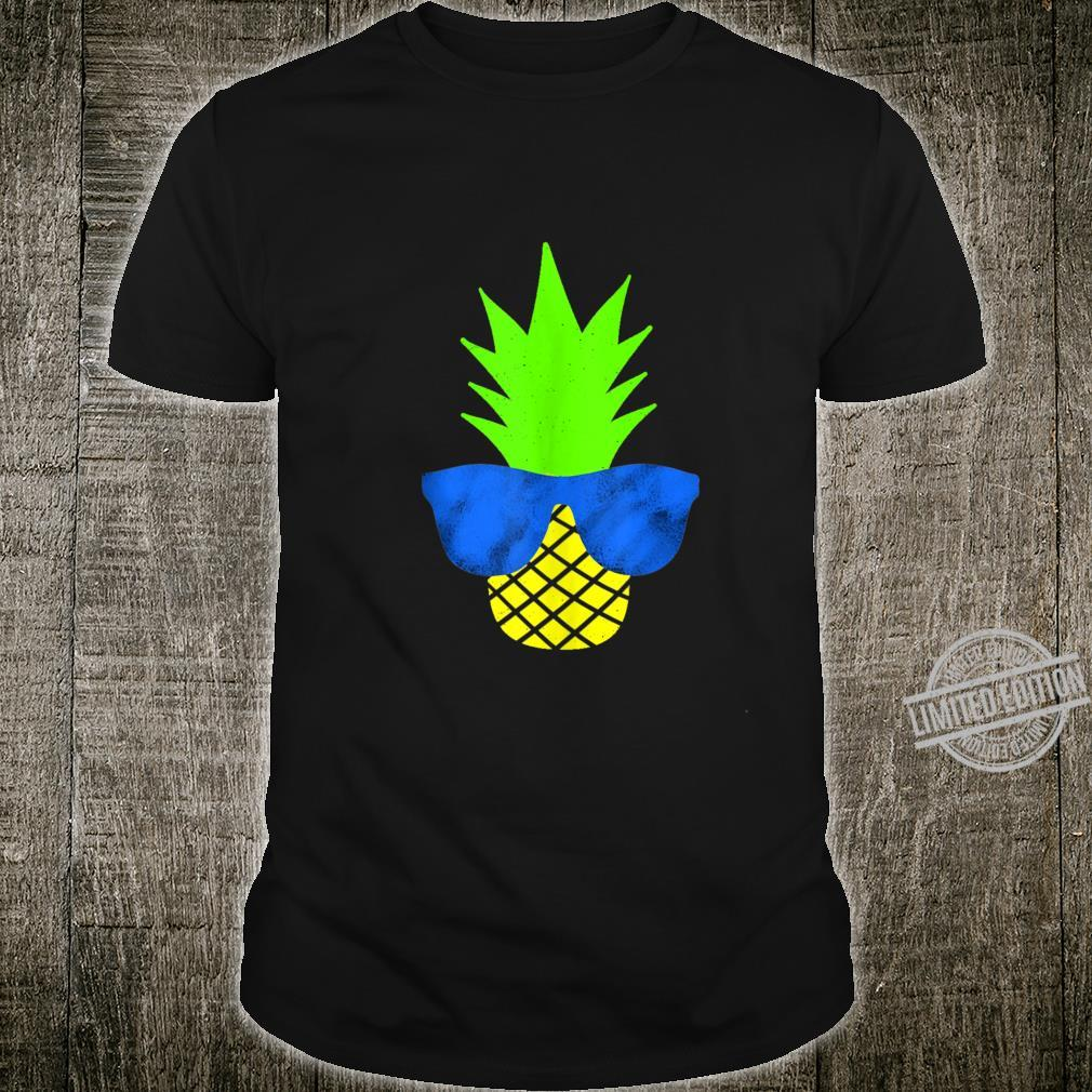 Funny Summer Pineapple With Sunglasses Shirt