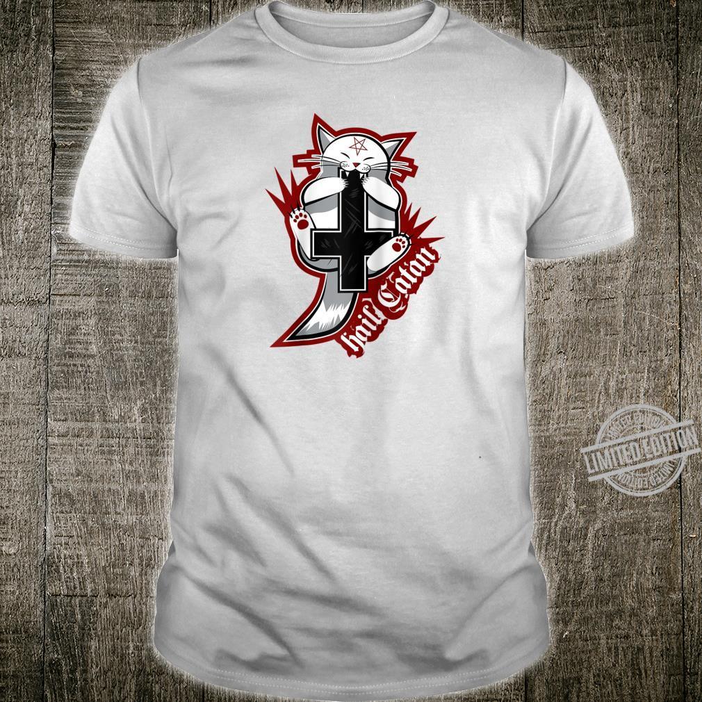 Hail Catan Cat Satan Devil Sign by Finja Design Shirt