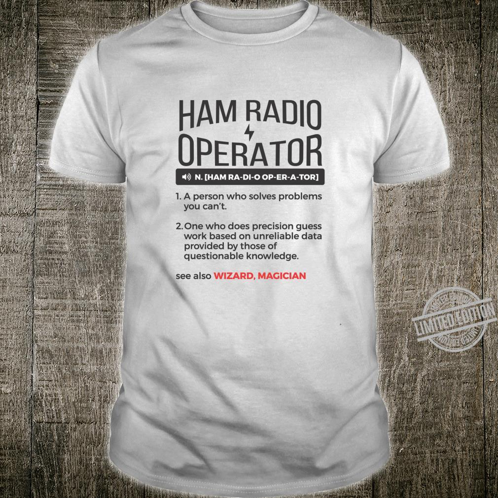 Ham Radio Operator Noun Dictionary Definition Shirt