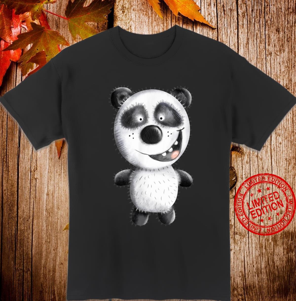 Happy Panda I Pandabär Comic I Panda Fun Cartoon Shirt