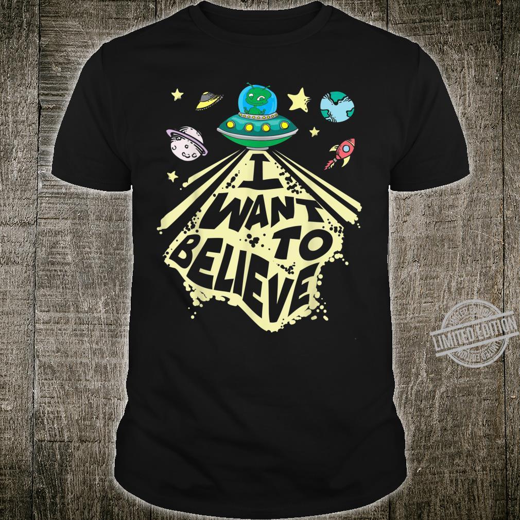 I Want To Believe Unique Alien OVNI Shirt