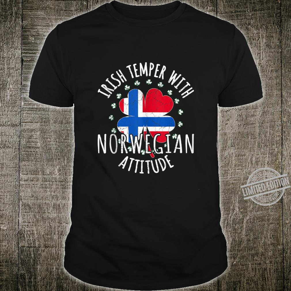 Irish Temper Norwegian Attitude St Patrick's Day Norwegian Shirt
