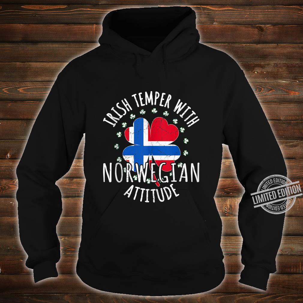 Irish Temper Norwegian Attitude St Patrick's Day Norwegian Shirt hoodie