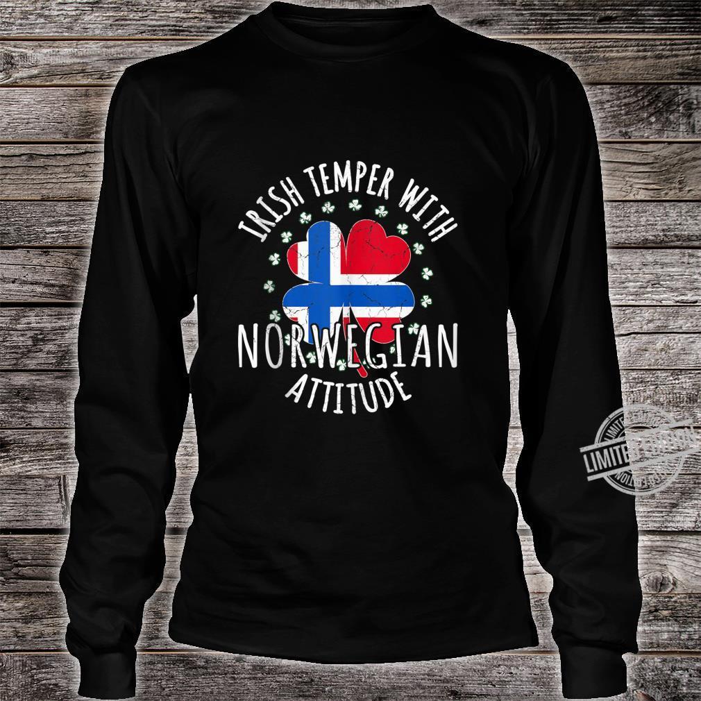 Irish Temper Norwegian Attitude St Patrick's Day Norwegian Shirt long sleeved