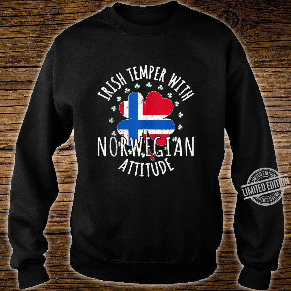 Irish Temper Norwegian Attitude St Patrick's Day Norwegian Shirt sweater