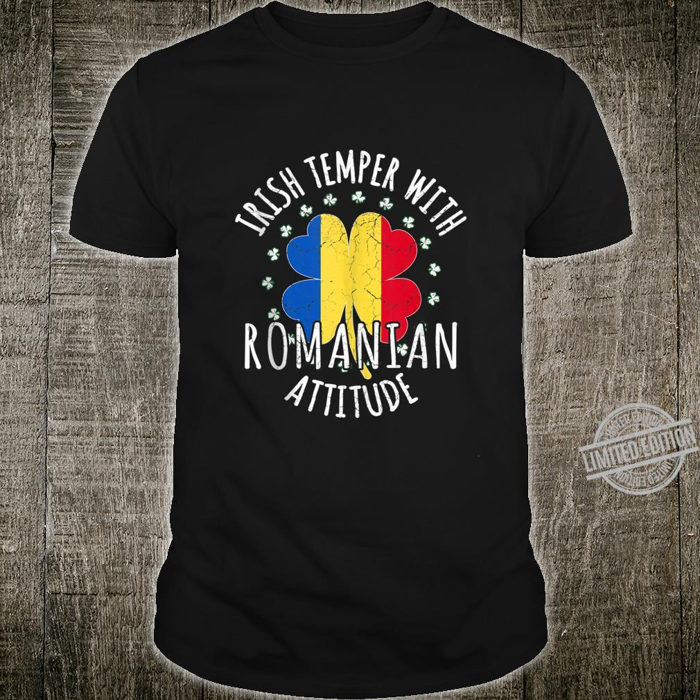 Irish Temper Romanian Attitude St Patrick's Day Romanian Shirt