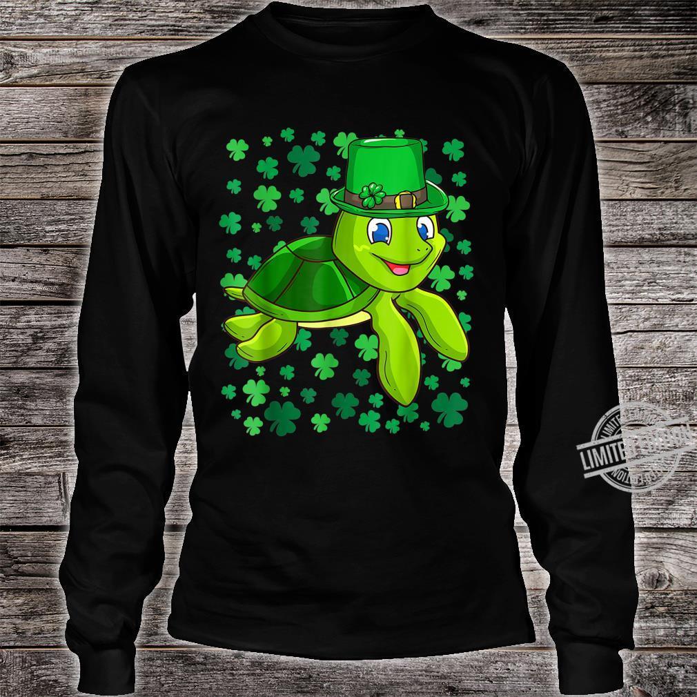 Irish Turtle Leprechaun Clovers St. Patrick's Day Shamrock Shirt long sleeved