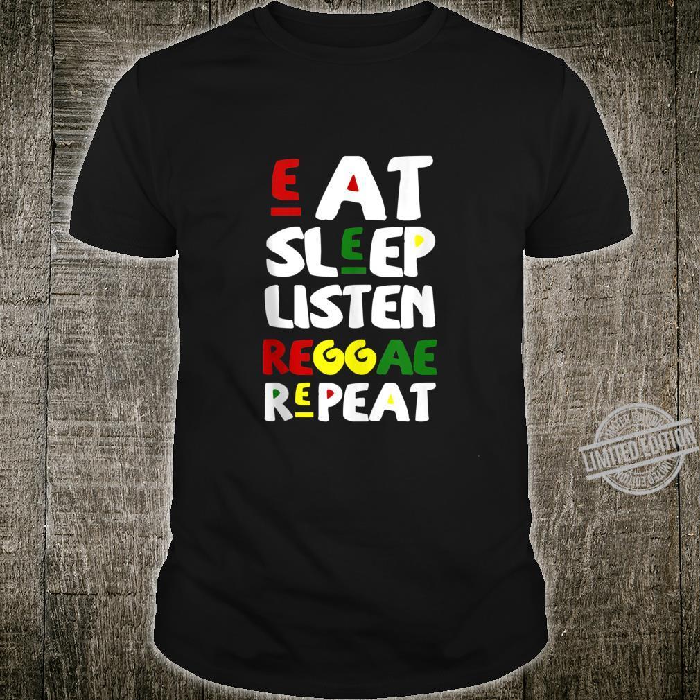 Jamaica Vacation Eat Sleep Listen Reggae Repeat Jamaican Shirt