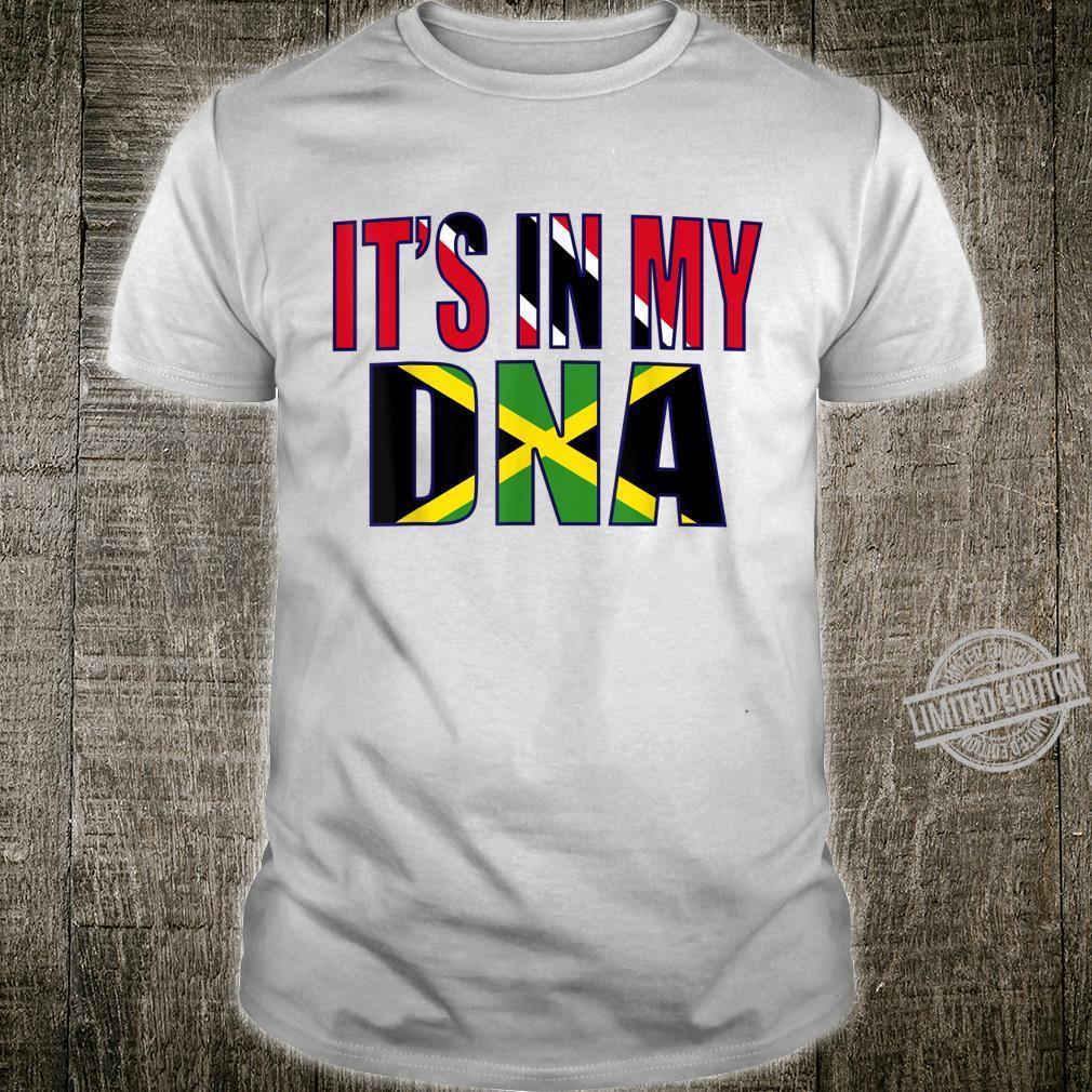 Jamaican And Trinidadian Mix DNA Flag Heritage Shirt