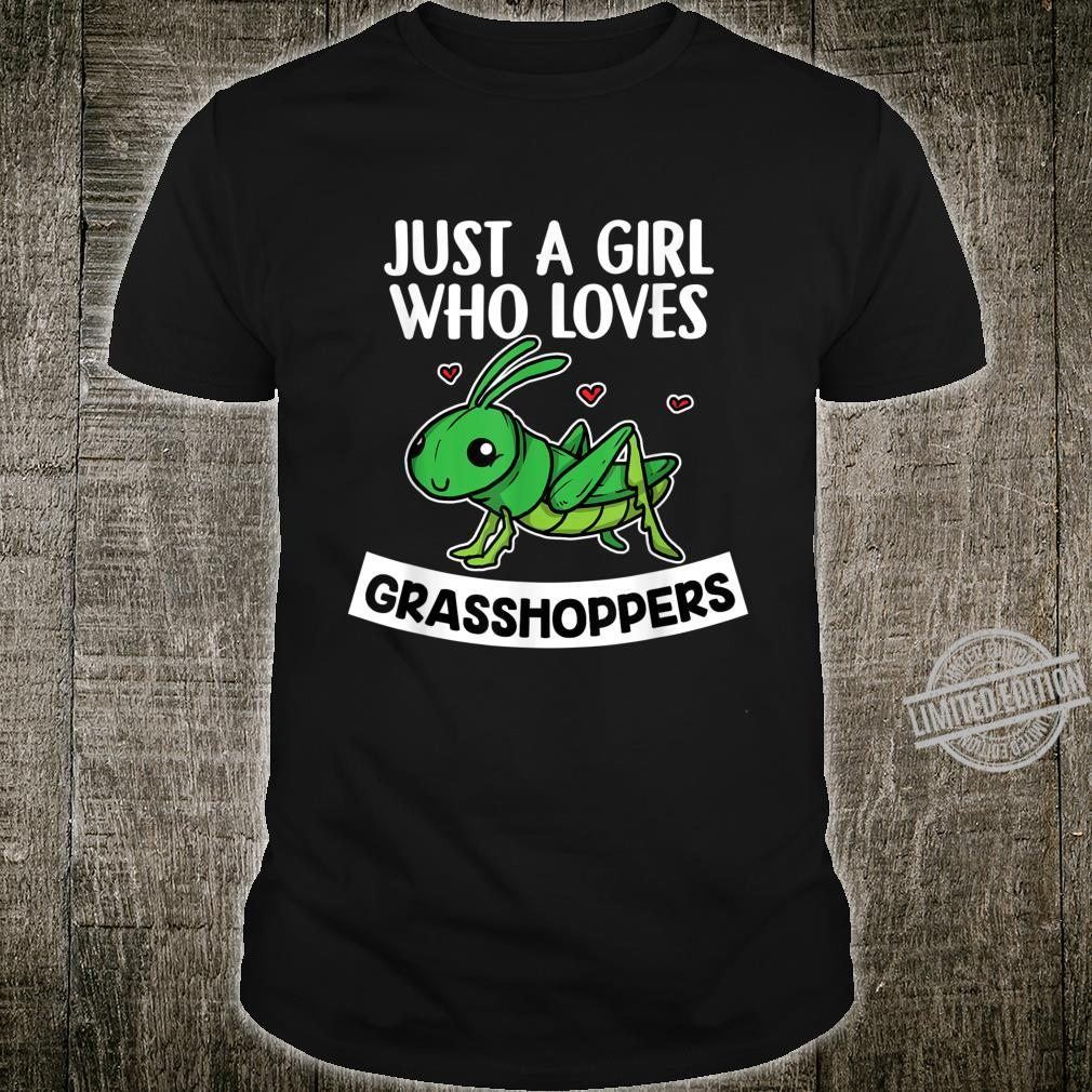 Just A Girl Who Loves Grasshoppers Cute Grasshopper Costume Shirt