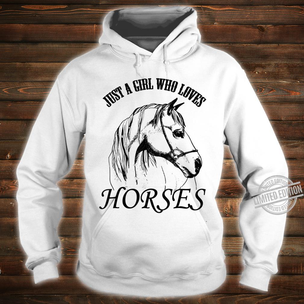 Just A Girl Who Loves Horses Cute Horse Design Shirt hoodie