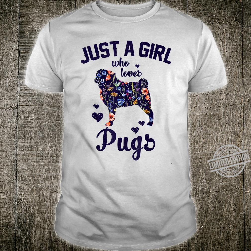 Just A Girl Who Loves Pugs Dog Clothes Pajamas Shirt