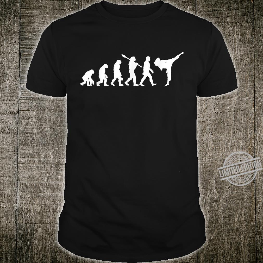 Karate Evolution Kampfkunst Liebhaber Geschenk Shirt