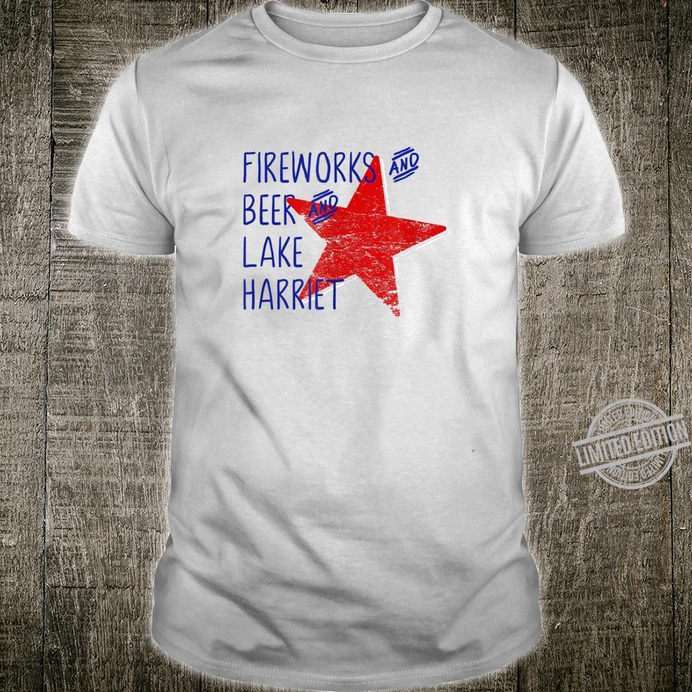 Lake Harriet Minnesota Fireworks July 4 Shirt