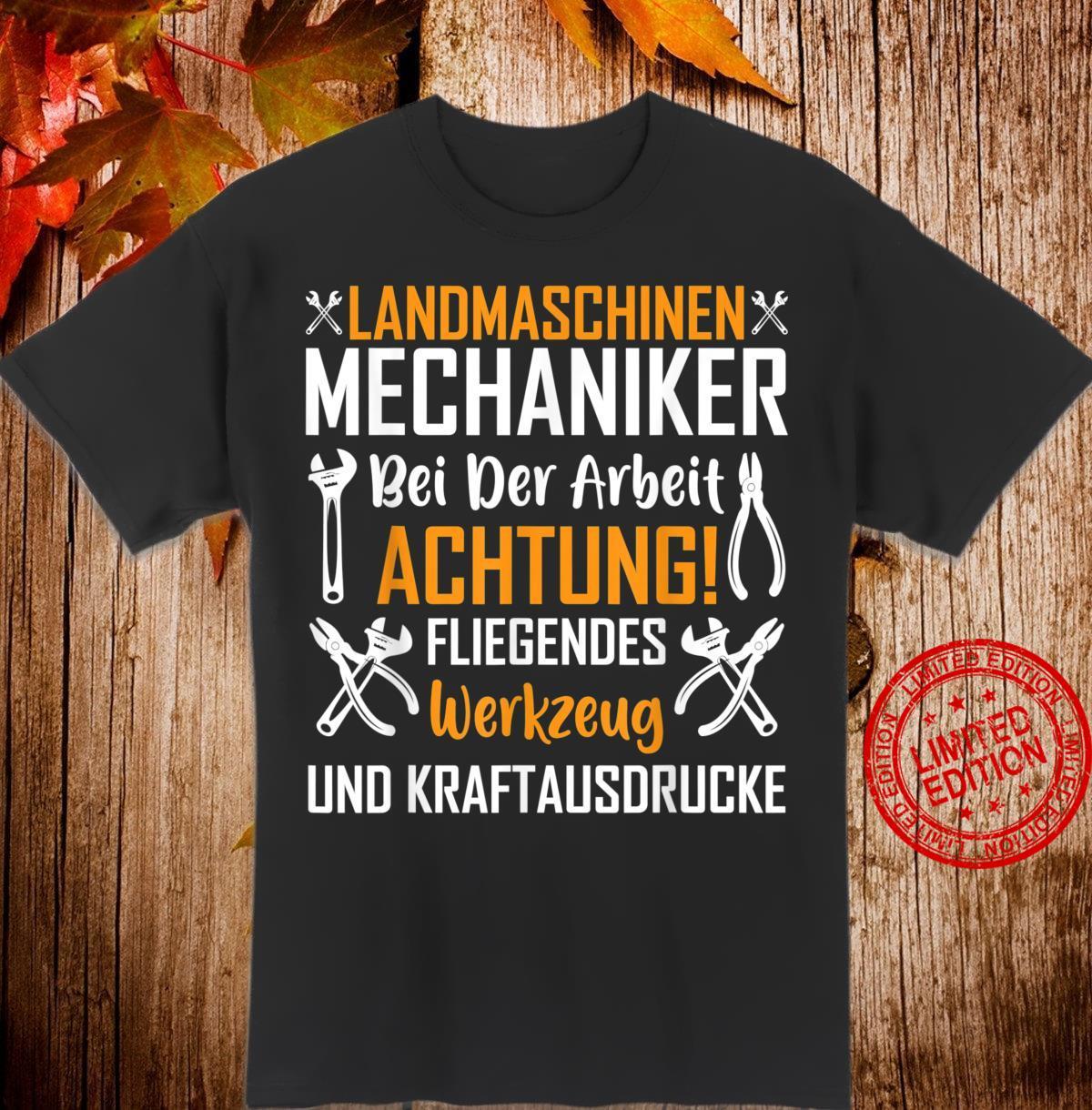 Landmaschinenmechaniker Bei Der Arbeit Mechaniker Shirt
