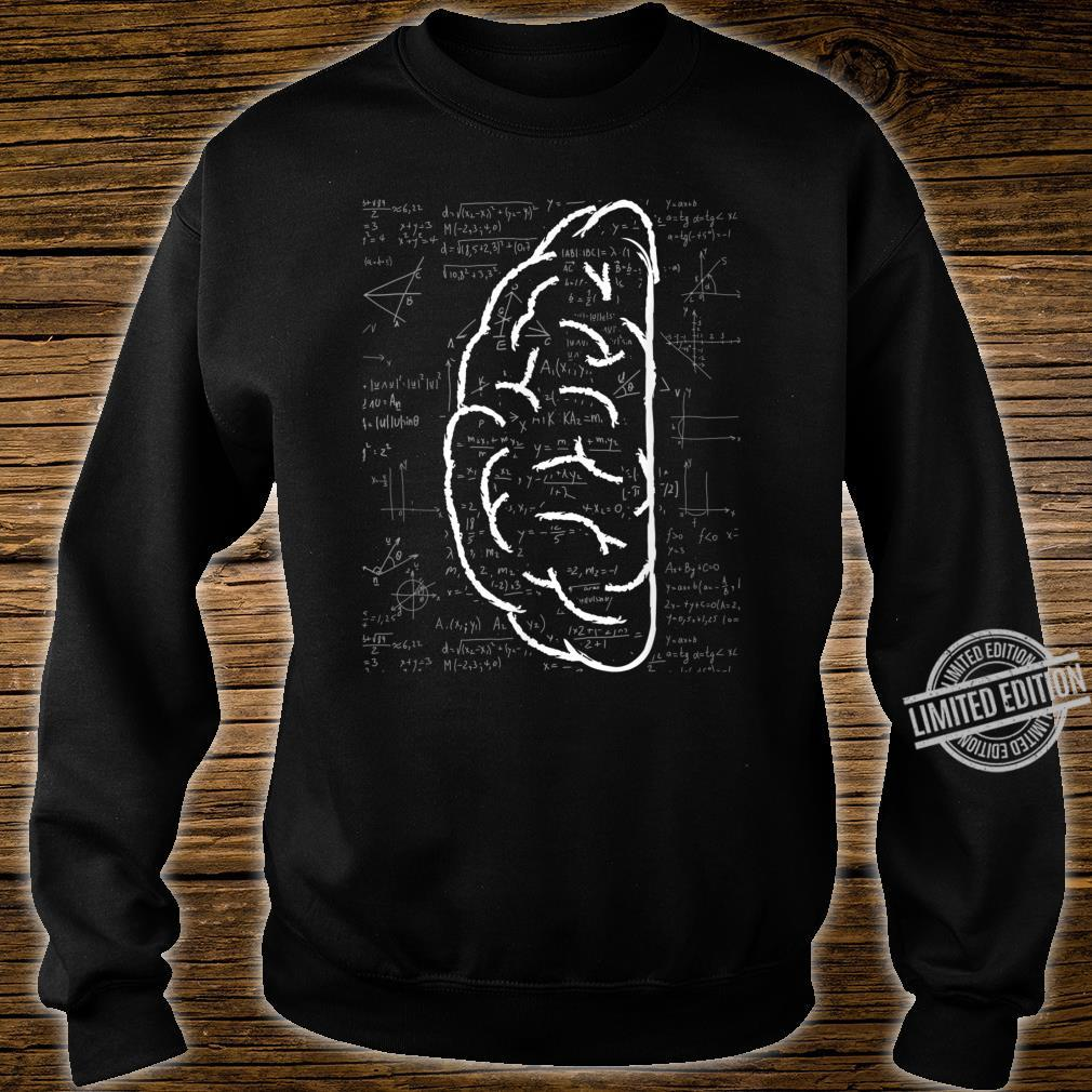 Left Brain Linear Analytical Thought Math Equation Shirt sweater