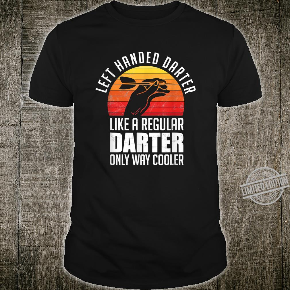 Left Handed Darter For A Darts Player Club Shirt
