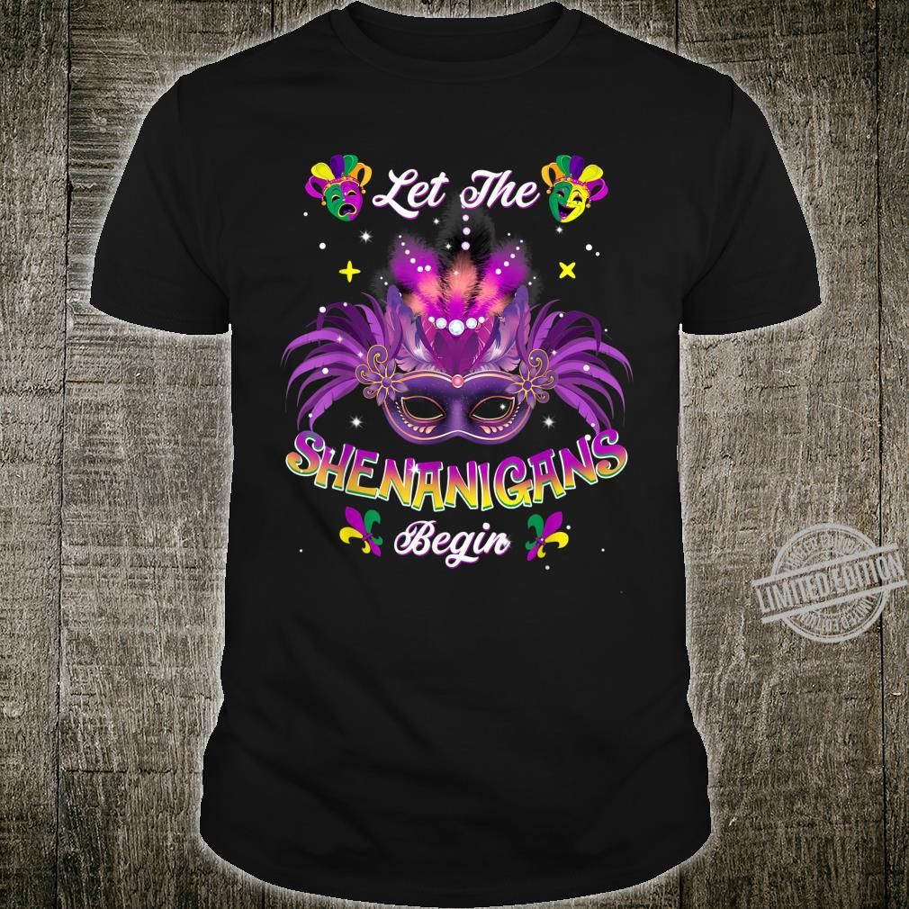 Let The Shenanigans Begin Jester Mardi Gras Carnival Shirt