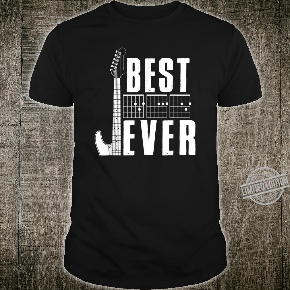 Mens Best Dad Ever Guitarist Music Father Chord Father's Day Shirt