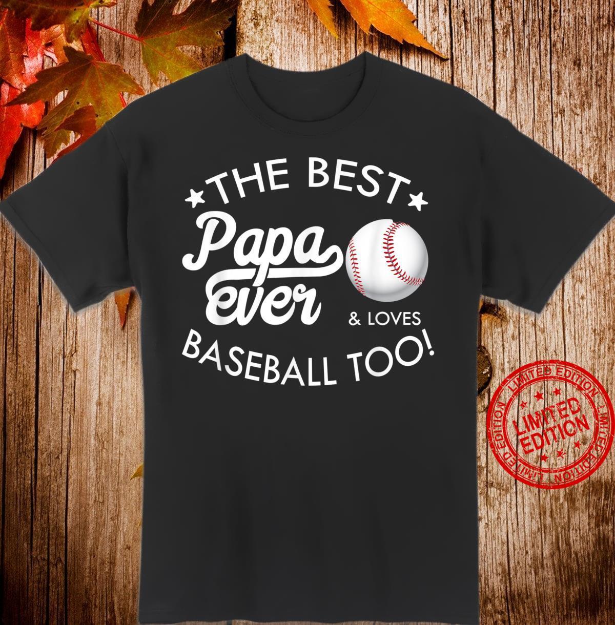 Mens Best Papa Ever, Baseball Shirt