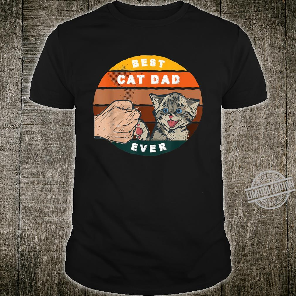 Mens Cat Daddy, Best Cat Dad Ever Vintage Fathers Day Bump Fist Shirt
