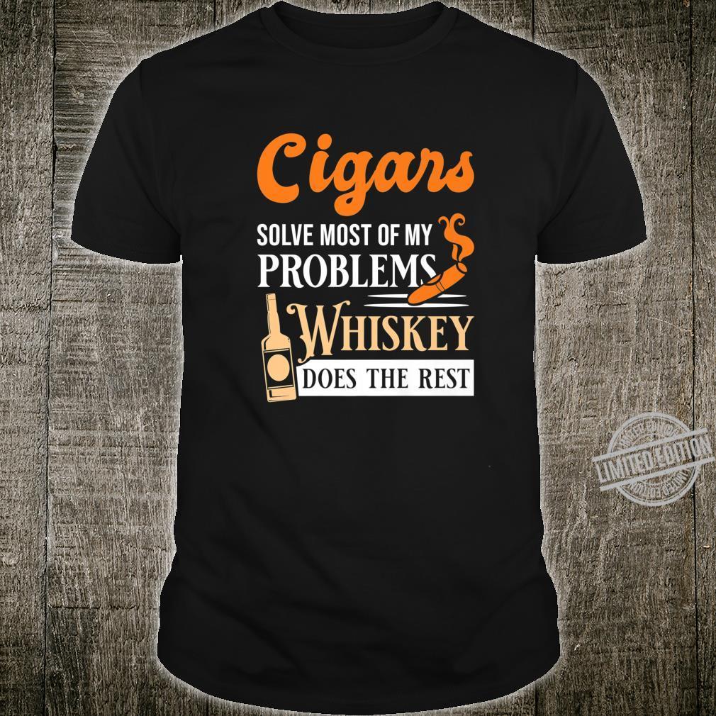 Mens Cigars And Whiskey Cigar Quote Shirt