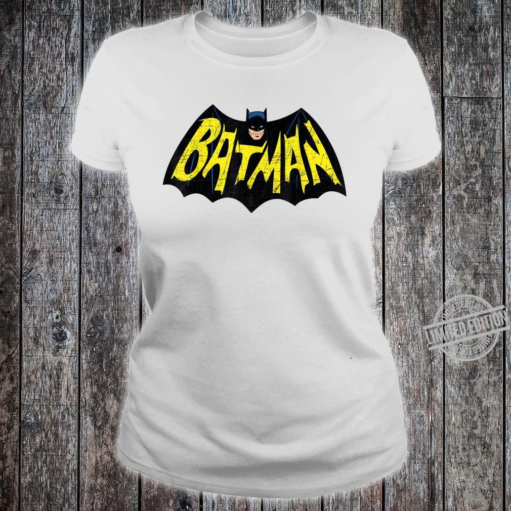 Mens DC Batman + Logo 66 Shirt ladies tee